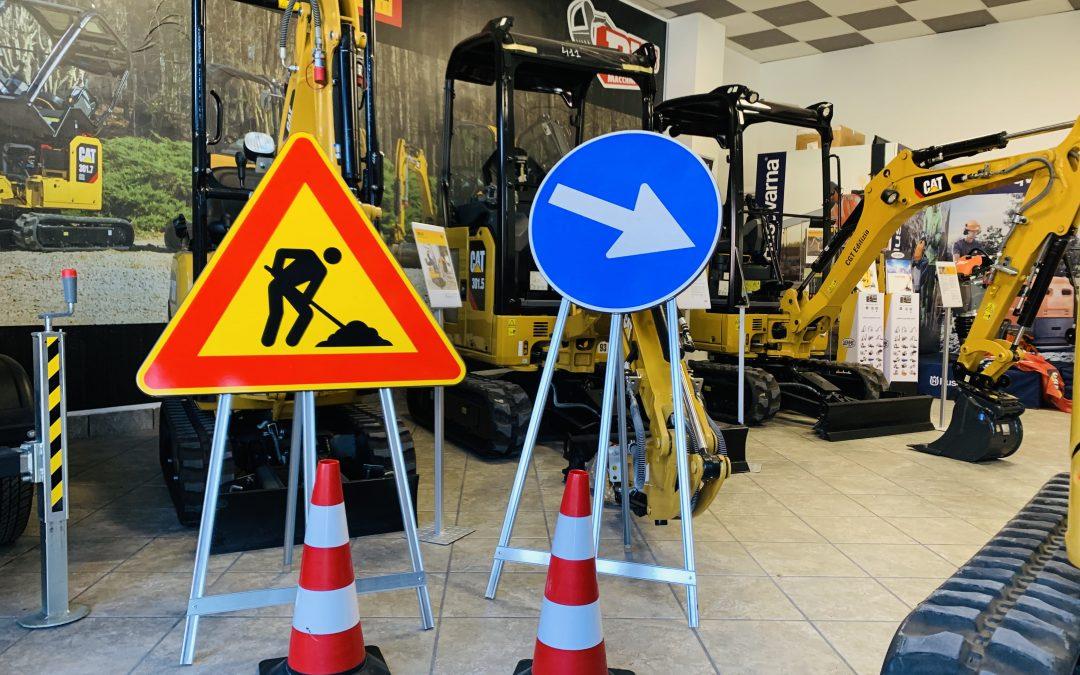 Segnaletica e norme di sicurezza per l'allestimento di cantieri stradali, DLF Informa.