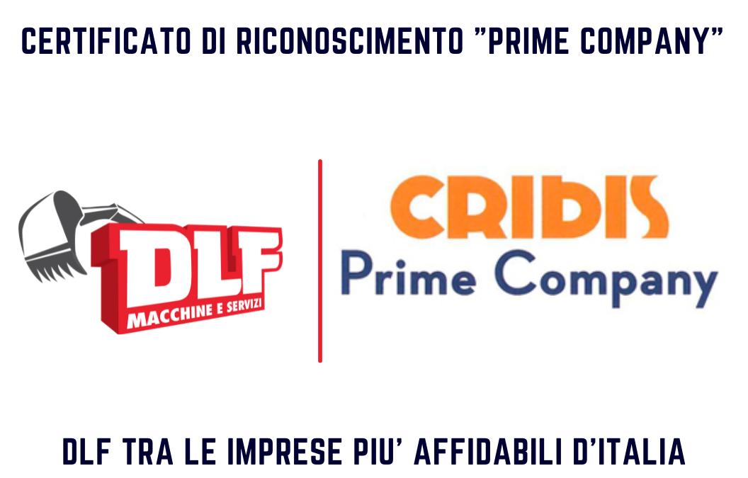 Cribis Prime Company: DLF tra le aziende più affidabili d'Italia!
